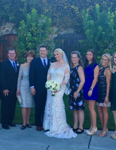 Mary Lou & Mark's son Scott & his wife Kelly with daughters, their husbands & grandchildren!